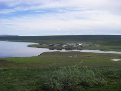 A view of Toolik Field Station, Alaska. Photo by Catherine Campbell.