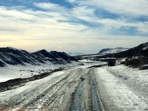 Road to Russell Glacier