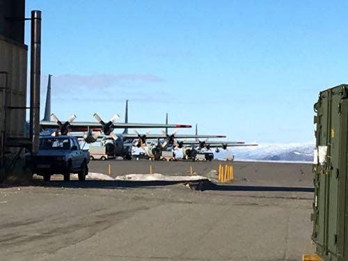 Line of C-130s