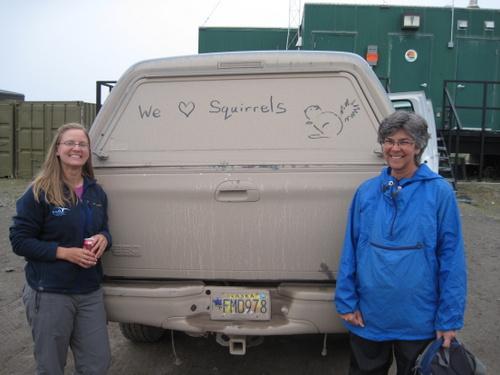Team Squirrel's truck