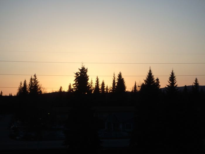 sunset from hotel-Day 2 Orientation, Fairbanks, AK