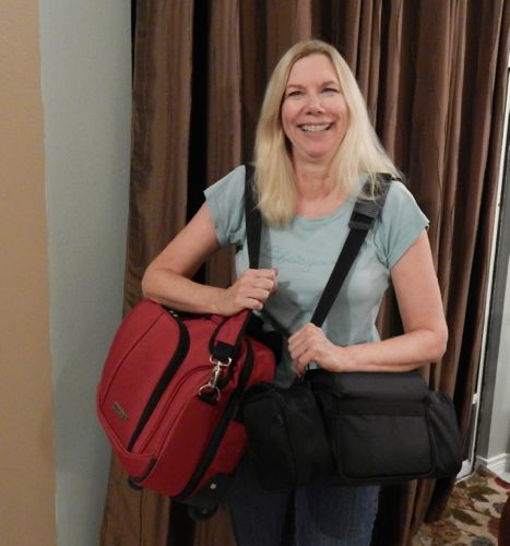 Andrea and carry-ons