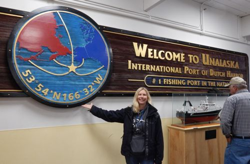 Andrea at the Dutch Harbor airport