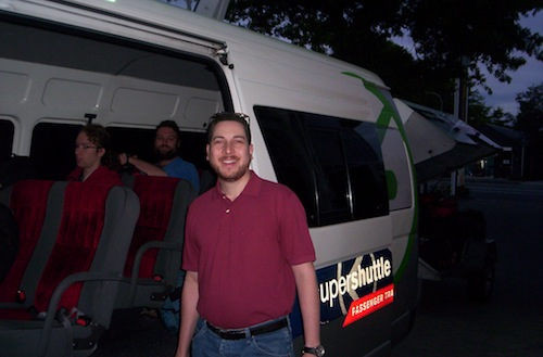 5:56 am: Boarding the bus that took us to the USAP offices in Christchurch, New Zealand.