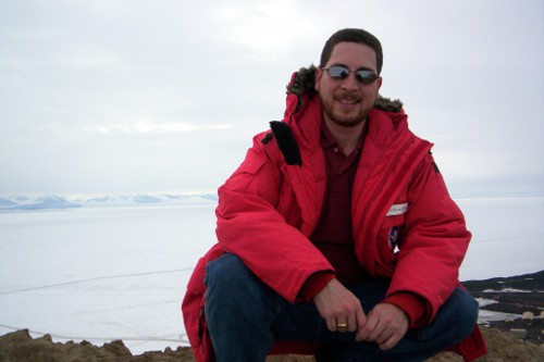 At the top of Observation Hill just outside McMurdo Station.