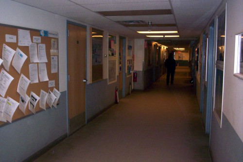 Main hall (highway #1) at building 155 in McMurdo Station.