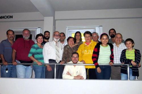 May 20, 2014: Astronomy students at Metropolitan University.