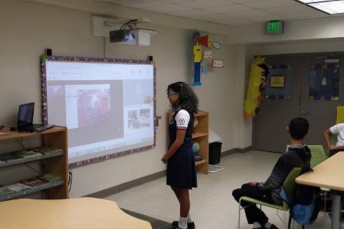 IceCube webcast at Pedro Rivera Molina School in Juncos, Puerto Rico.  Credit: Miguel Piñero.