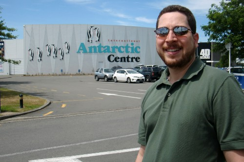 Leaving the International Antarctic Center, where the USAP offices are located.