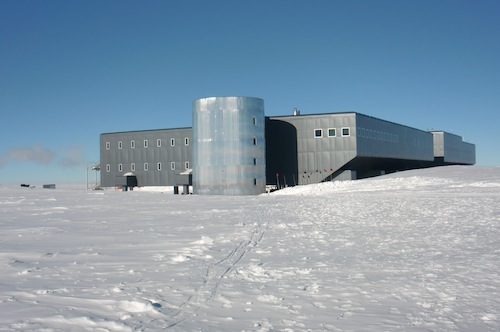 The station viewed from the geographic South Pole.