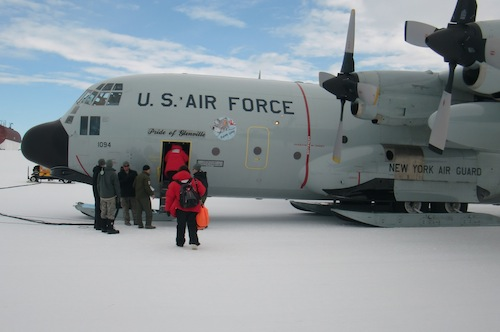 Departure from Williams Field next to McMurdo Station.