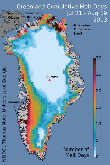 Greenland Ice sheet melt