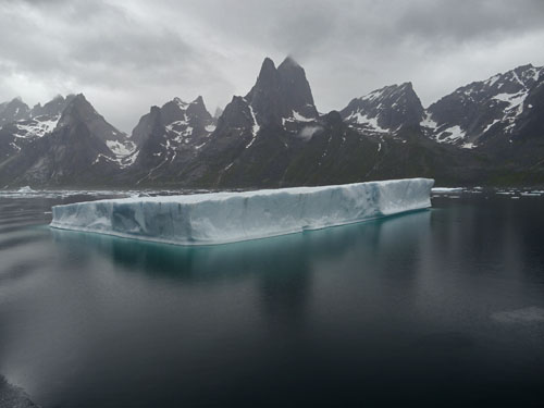 Iceberg, Prins Christian Sund, South Greenland