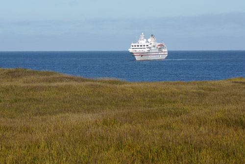Cruise Ship Hanseatic anchored north of Barrow, AK