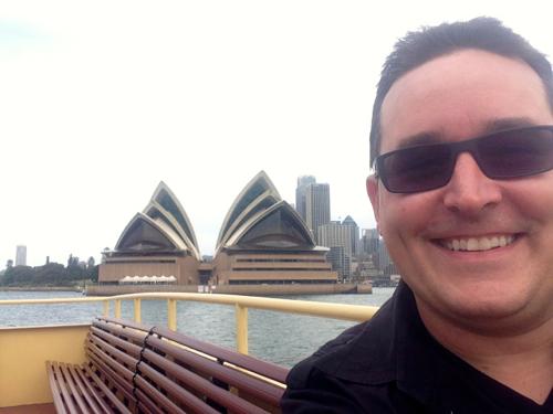 Sydney Opera House from Ferry to Mosman Bay