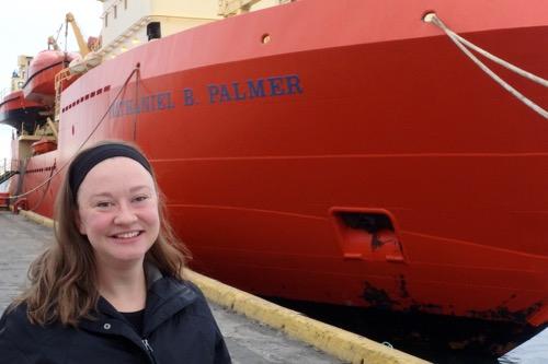 Alexa Sterling boarding the RVIB Palmer