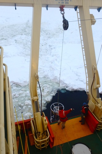 CTD in the ice hole