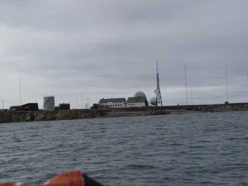 A last look at Isfjord Radio from the boats on the fjord.
