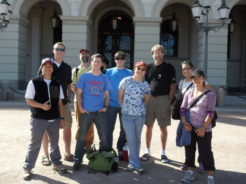 Posing in front of Norwegian Royalty Castle