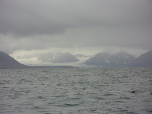 Glacier on the north side of the fjord.