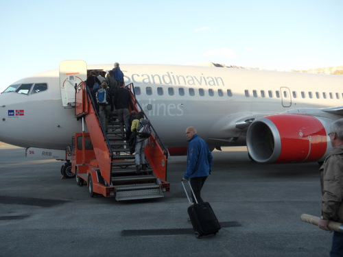 Getting on the plane!