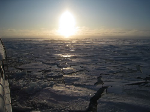 Sun on the Sea Ice