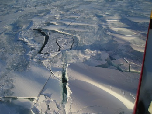 Polar Sea breaks ice!