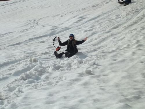 Helena sledding!