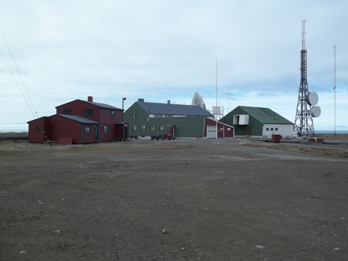 Buildings at Isfjord Radio