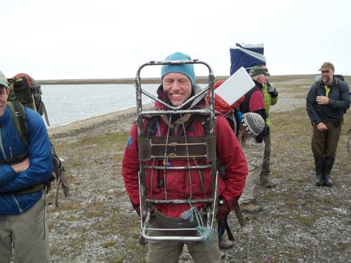 Lucas with Empty Frame Pack