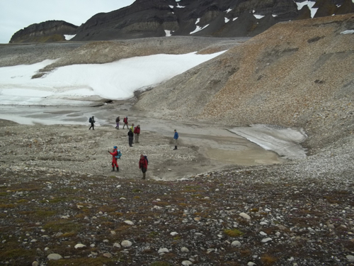 The group at the first karst lake