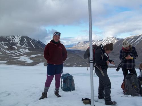 Sara, on glacier, with style