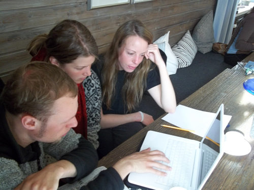 Lukas, Louise, and Dagmar working up data...