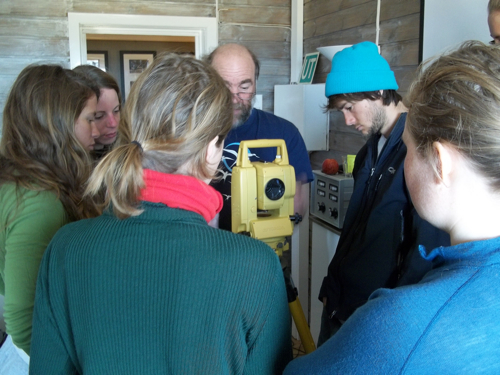 The group around the total station