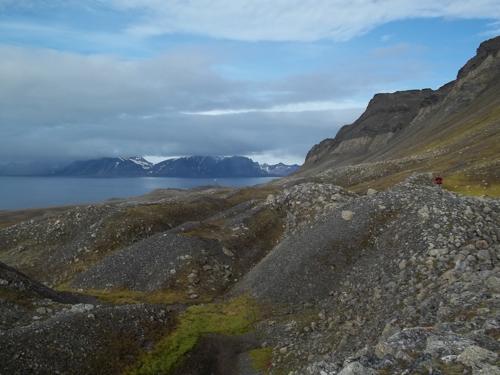 Atop rock glaciers.