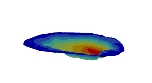 A GIS generated bathymetric map of lake 8, the karst!