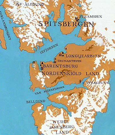 Map of West Svalbard