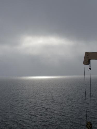 The sun in Arctic clouds