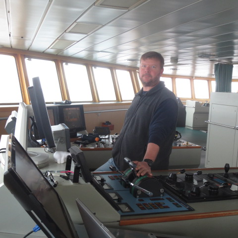 Rob Potter has 16 years of driving the ship in Polar Regions.