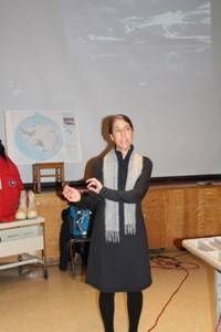 Dr. Amy Leventer visits Parishville-Hopkinton Central school