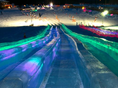 Longer ice slides.
