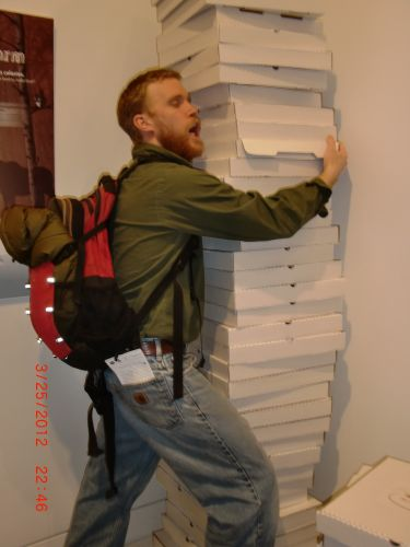 Me and my pizzas.
