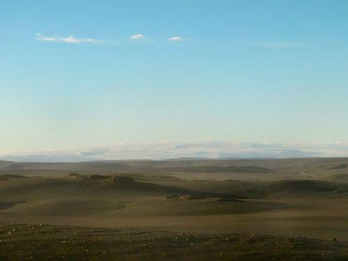 Hofsjokull and Lava Field