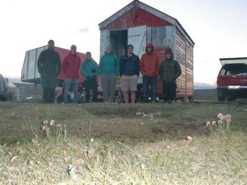 team at hut