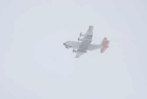 C-130 flying over Summit Station
