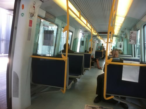 Riding the metro to Copenhagen International Airport