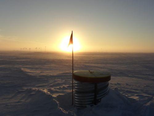 Sunset at Summit Station