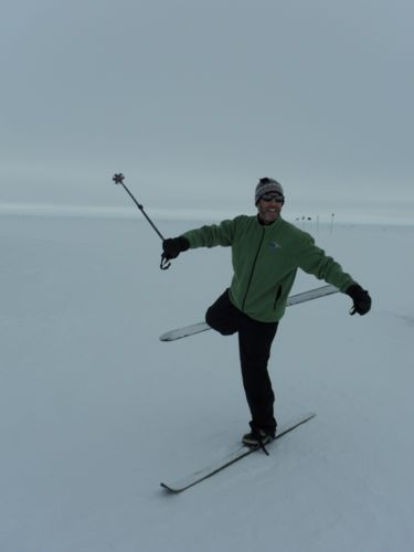 Me skiing at Summit Station, Greenland.