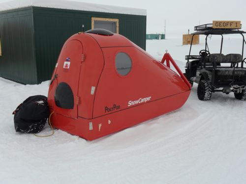 The Poly Pod snow camper.