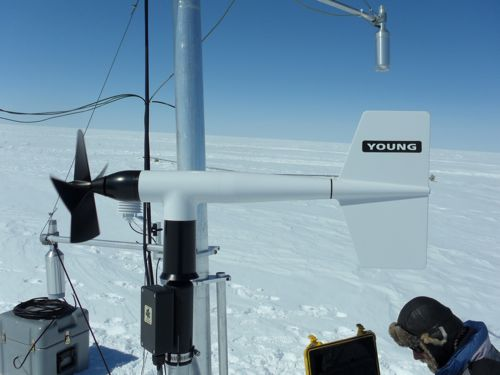 AWS Anemometer - measures wind velocity and wind direction